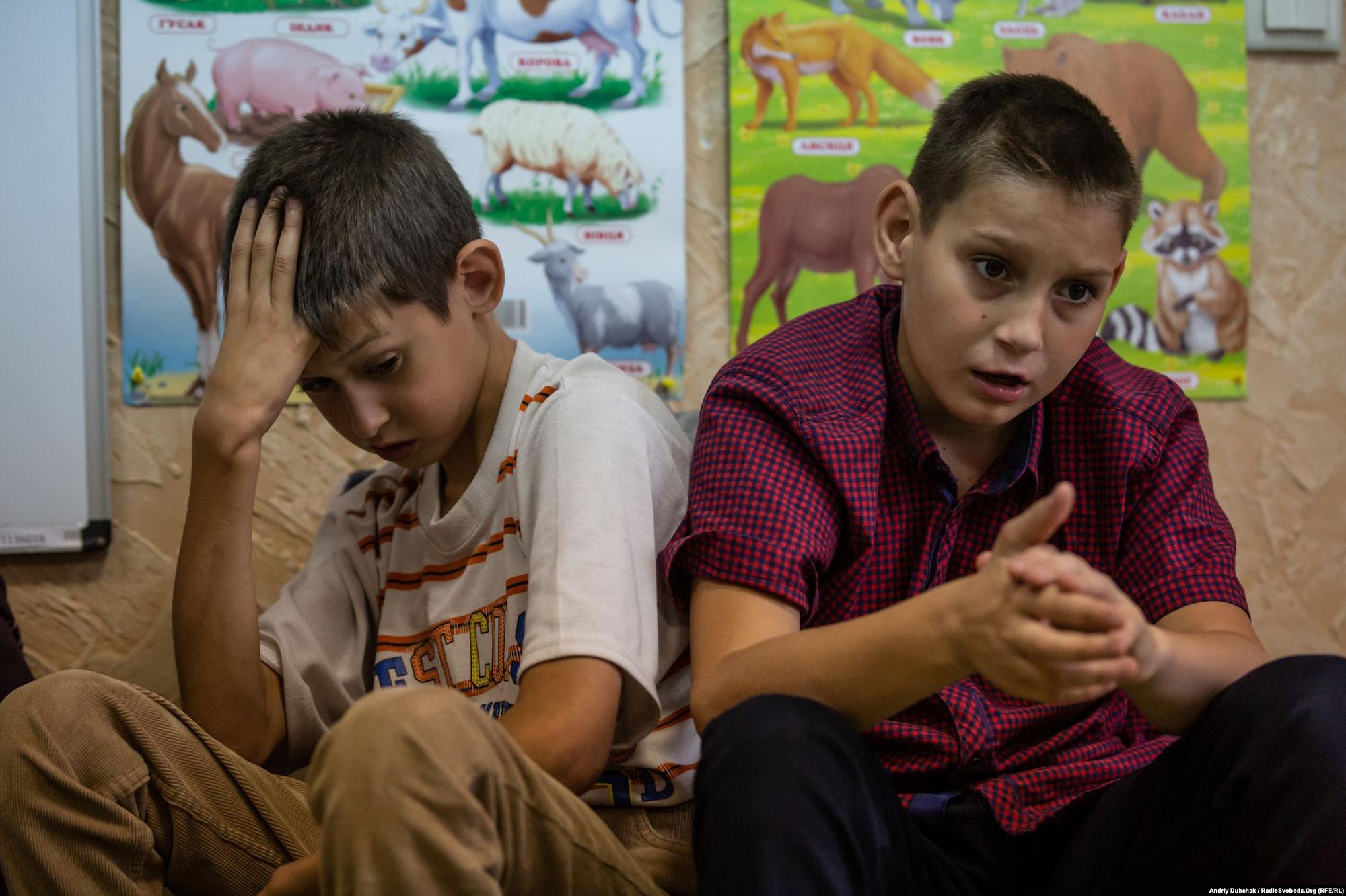 Children at the Leleka Rehabilitation Center in the frontline town of Popasna. (photo: Andriy Dubchak)