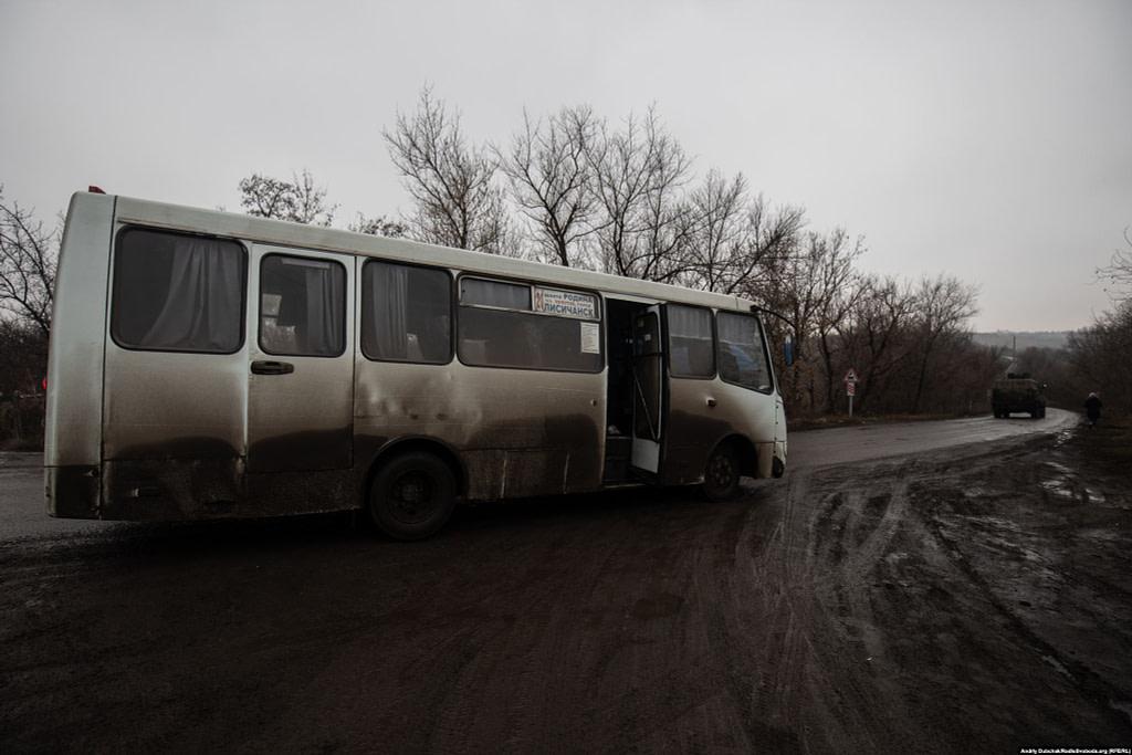 Маршрутка «Шахта «Родіна» – Лисичанськ» (фото: Андрій Дубчак)