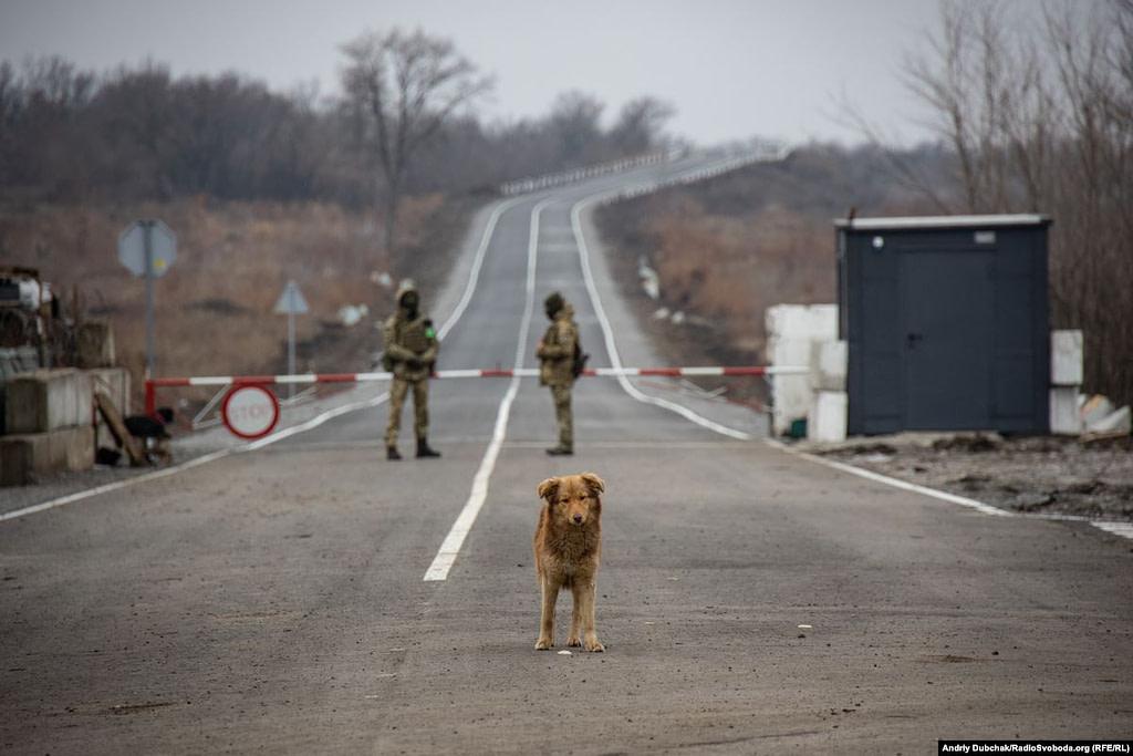 КПВВ Золоте - дорога до Первомайська