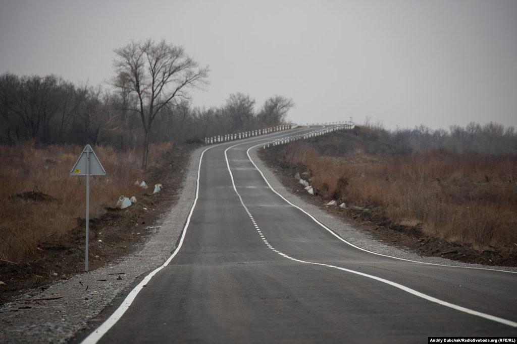 Дорога з КПВВ Золоте до Первомайська